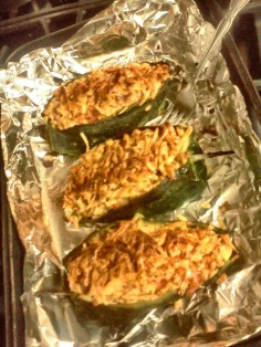 The Stuffed Poblanos: Mmm, so spicy!
